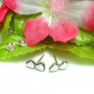 925 STERLING SILVER HEARTS TWO-GATHER STUD EARRINGS