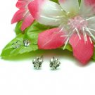 925 STERLING SILVER FLEUR DE LIS STUD EARRINGS #449
