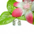 925 STERLING SILVER BEER STEIN MUG STUD EARRINGS