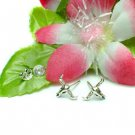 925 STERLING SILVER LONGHORN STUD EARRINGS #410