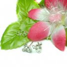 925 STERLING SILVER LOVE LOCK & KEY STUD EARRINGS