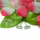 925 STERLING SILVER HAIR COMB CLIPS STUD EARRINGS
