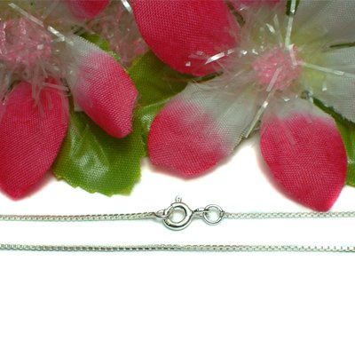 "925 STERLING SILVER 18"" INCH BOX CHAIN NECKLACE"