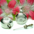 STERLING SILVER ROUND 7/8-INCH PERFUME BOTTLE PENDANT