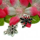 925 STERLING SILVER ONYX DRAGONFLY CHARM / PENDANT