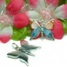 STERLING SILVER BUTTERFLY MOTHER OF PEARL PENDANT #7OR