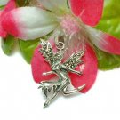 STERLING SILVER FAIRY WIF MARCASITE WINGS CHARM PENDANT