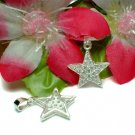 925 STERLING SILVER STAR CUBIC ZIRCONIA CHARM / PENDANT