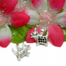 925 STERLING SILVER SCOTTY DOG BLACK CZ CHARM / PENDANT