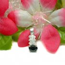 925 STERLING SILVER BLACK CUBIC ZIRCONIA PENDANT