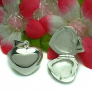 STERLING SILVER PLAIN PUFFED HEART PHOTO LOCKET PENDANT