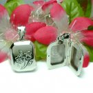 925 STERLING SILVER FLOWER BOOK PHOTO LOCKET PENDANT