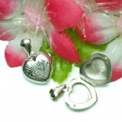 STERLING SILVER PUFFED HEART PHOTO LOCKET / PENDANT #2