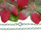"925 STERLING SILVER 18"" INCH CURB CHAIN NECKLACE"