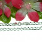 "925 STERLING SILVER 18"" INCH FIGARO CHAIN NECKLACE"
