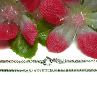 "925 STERLING SILVER 16"" INCH BOX CHAIN NECKLACE #25"