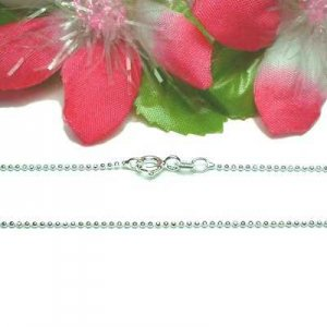 "925 STERLING SILVER 16"" INCH BEAD CHAIN NECKLACE #5"