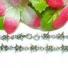 925 STERLING SILVER STAR CHARM LINK BRACELET