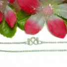 """925 STERLING SILVER 14"""" INCH FIGARO CHAIN NECKLACE"""