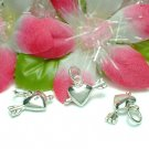 STERLING SILVER PUFFED HEART WITH CUPID ARROW CHARM