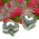 925 STERLING SILVER 1 INCH LARGE PUFFED HEART PENDANT