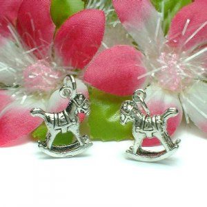 925 STERLING SILVER ROCKING HORSE CHARM / PENDANT (#US-AN44)