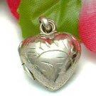 925 STERLING SILVER HEART PHOTO LOCKET PENDANT