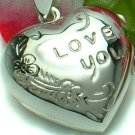 STERLING SILVER I LOVE YOU HEART PHOTO LOCKET / PENDANT