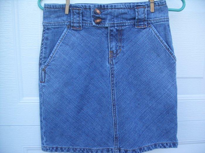 Gap Denim Belted Skirt SIZE 0 (Zero)