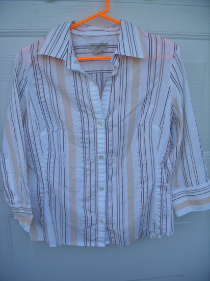 Banana Republic Stripe Tailored Blouse SIZE LARGE