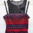 Wrapper Double Tank Blouse Top SIZE MEDIUM