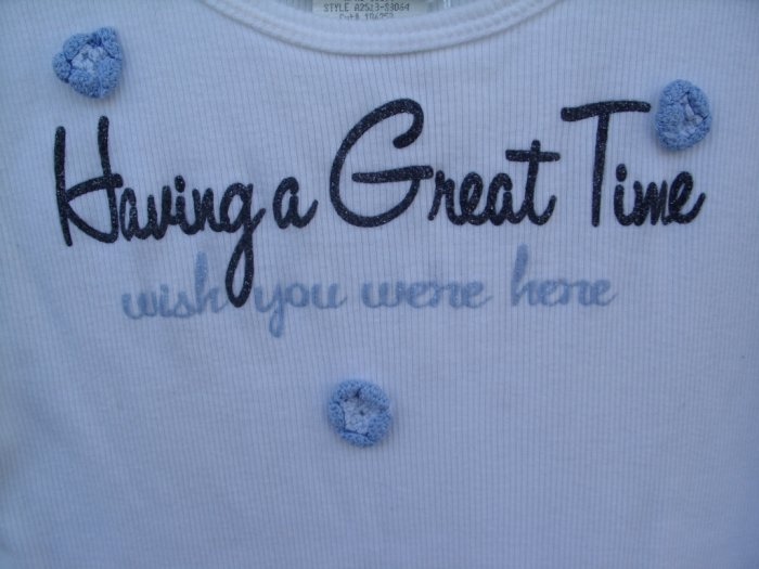 "Freedom ""Having a Great Time...."" Embellished Tank SIZE XL"