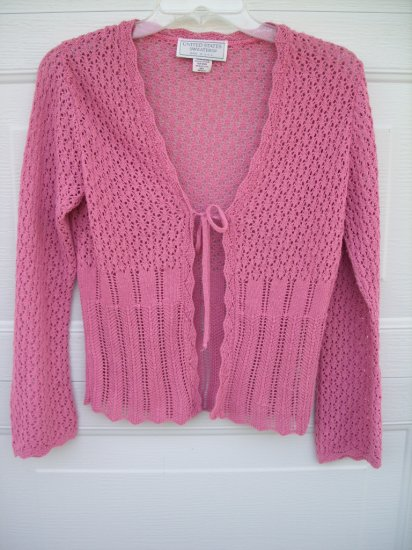 US Sweaters Pink Lace Knit SIZE MEDIUM
