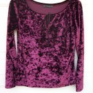 Nintey Crushed Velvet LS Top SIZE PLUS 1X 14/16W