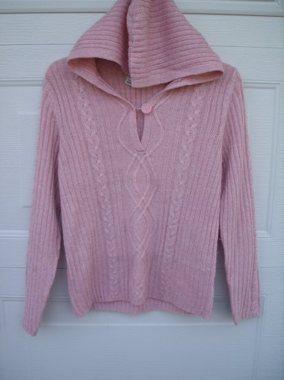 Faded Glory Pink Hooded Sweater SIZE MEDIUM 8/10