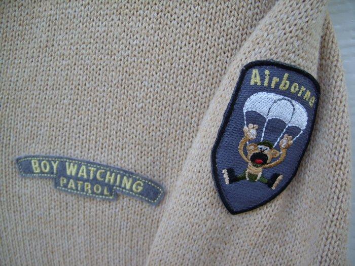 """Tilt """"Boy Watching Patrol, Airborne"""" Sweater SIZE XL"""