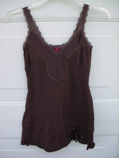 Hollister Brown Lace Tank SIZE XSmall