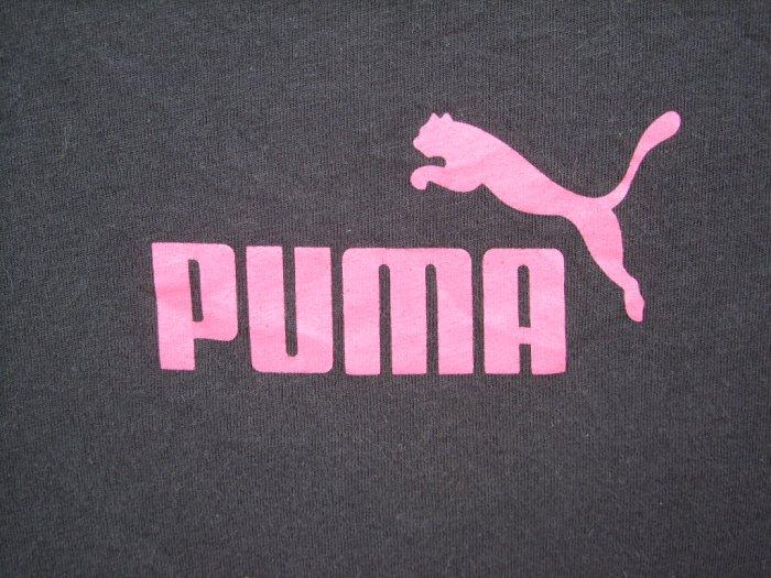 Puma Brown Tee w/Pink SIZE XSMALL