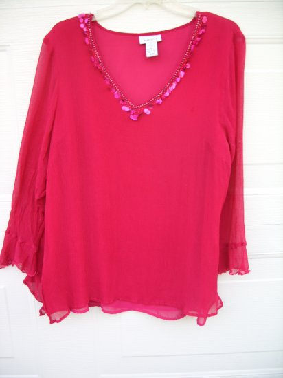 Avenue Hot Pink Tunic SIZE PLUS 18/20 XXL