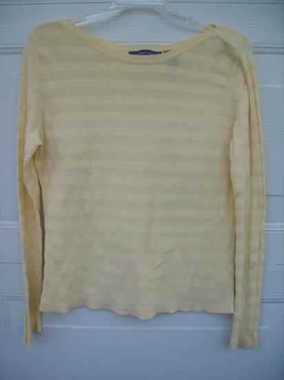 Hillard & Hanson Yellow 3/4 Sleeve Lt. Sweater SIZE LARGE