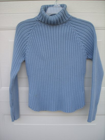 Gap Blue Turtle Neck Sweater SIZE MEDIUM