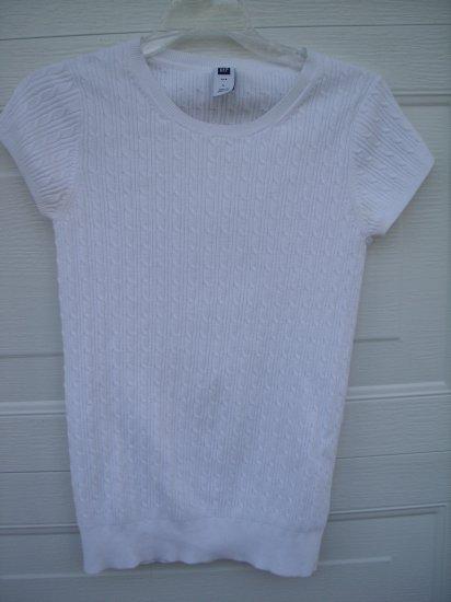 Gap White Sweater Tee SIZE LARGE