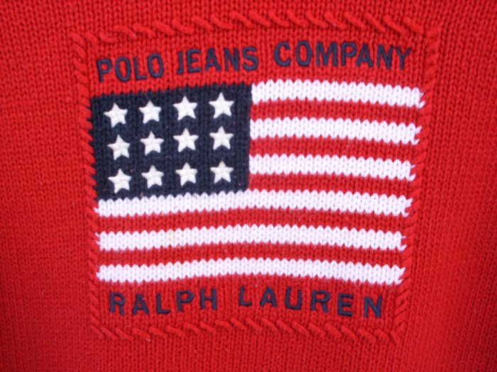 Ralph Lauren Red Knit Sweater SIZE LARGE