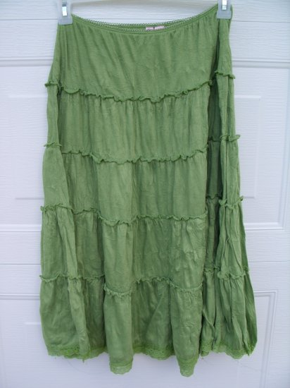FANG Green Crinkle Skirt SIZE LARGE
