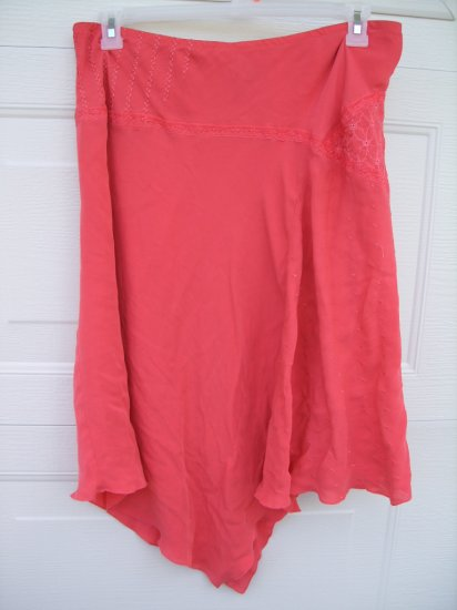 Lane Bryant Orange Silk Skirt SIZE 18/20