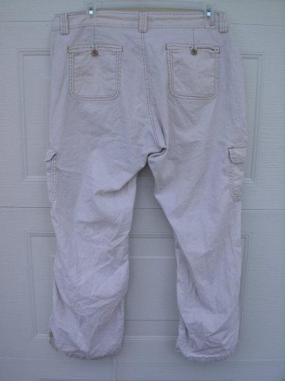 Union Bay Tan Adjustable Pants/Capris SIZE 18