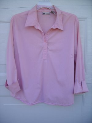 Faded Glory Pink Stretch Blouse SIZE LARGE