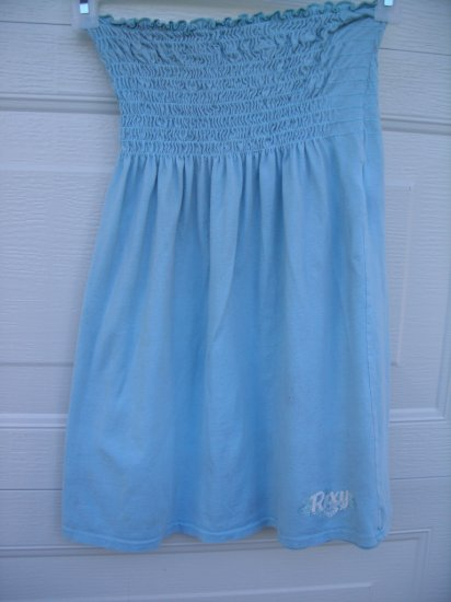 Roxy Light Blue Tube Dress Top SIZE MEDIUM