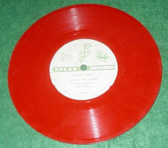 VINTAGE SPEAR CHRISTMAS 78 CHILDS RECORD SILENT NIGHT