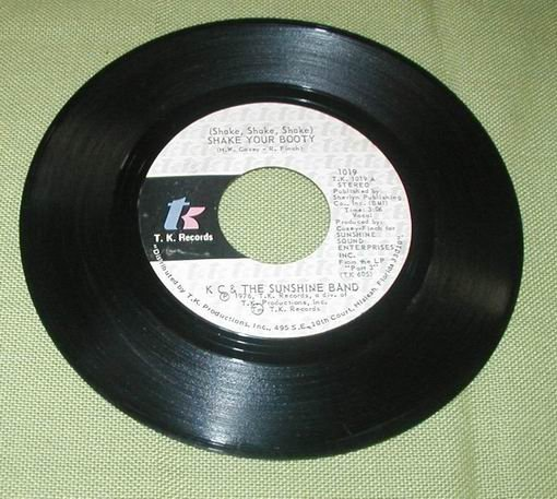 KC SUNSHINE BAND 45 RECORD BOOGIE SHOE SHAKE YOUR BOOTY